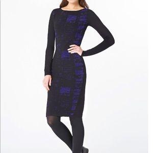 Elie Tahari design nation dress blue color block